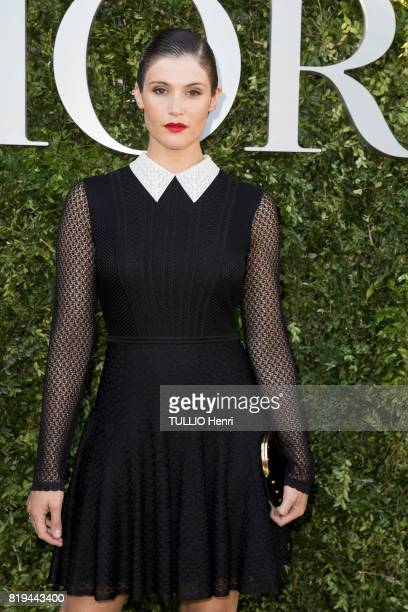 at the Inauguration of the exhibition 'Christian Dior Celebrates 70 Years of Creation' at the Musee des Arts Gemma Arterton on july 03 2017 in Paris...
