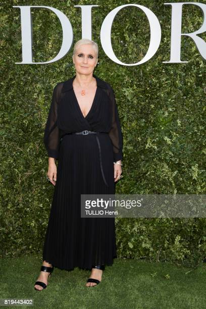 at the Inauguration of the exhibition 'Christian Dior Celebrates 70 Years of Creation' at the Musee des Arts Maria Grazia Chiuri on july 03 2017 in...