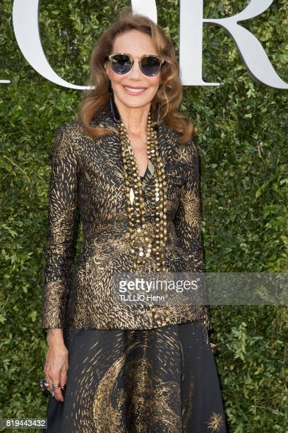 at the Inauguration of the exhibition 'Christian Dior Celebrates 70 Years of Creation' at the Musee des Arts Marisa Berenson on july 03 2017 in Paris...