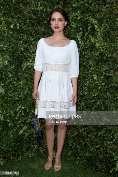 at the Inauguration of the exhibition 'Christian Dior Celebrates 70 Years of Creation' at the Musee des Arts Natalie Portman on july 03 2017 in Paris...