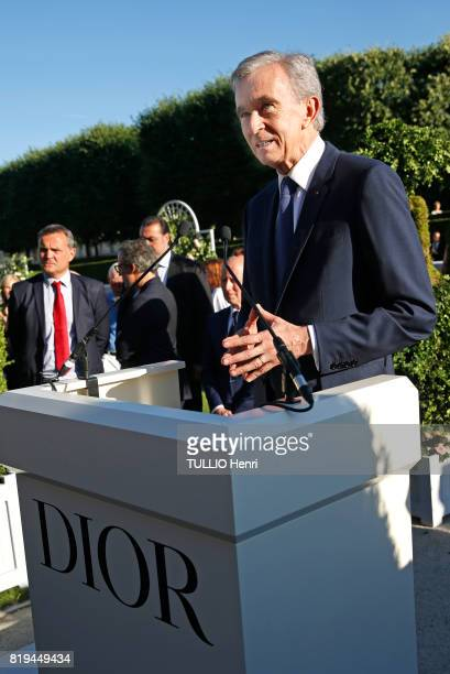 at the Inauguration of the exhibition 'Christian Dior Celebrates 70 Years of Creation' at the Musee des Arts Bernard Arnault on july 03 2017 in Paris...