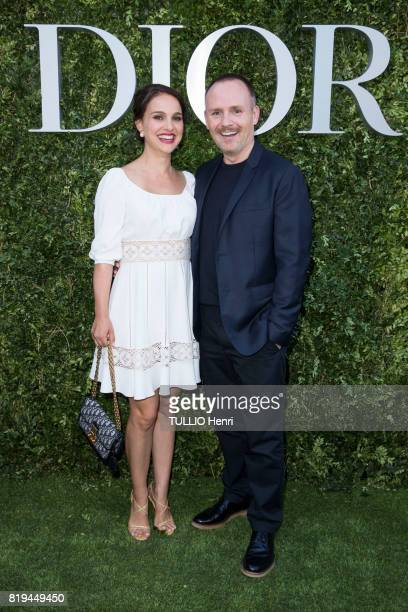 at the Inauguration of the exhibition 'Christian Dior Celebrates 70 Years of Creation' at the Musee des Arts Natalie Portman and Peter Philips on...