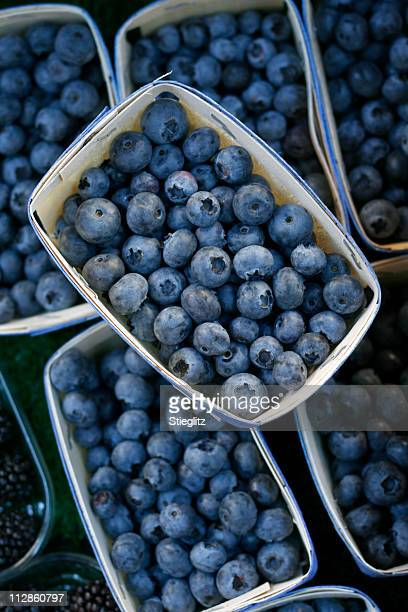 at the market: blueberries