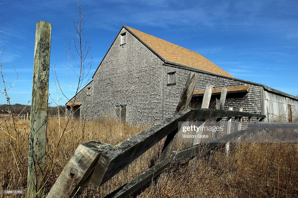 At the Marshfield airport, the old barn they are selling to make room for an expanding taxiway.