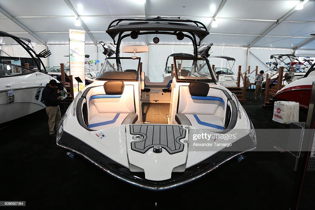 X at the Miami International Boat Show on February 11, 2016 in Miami, Florida.