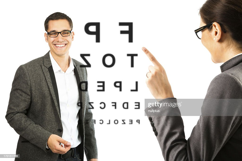 at the optician : Stock Photo
