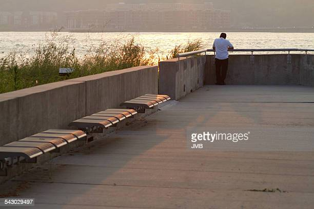 At the pier, Hudson River, NYC