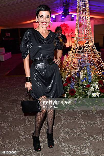 at the Pre Catelan evening to celebrate 50 years of career of the Japanese designer Kenzo Takada Cristina Cordoula on september 17 2015 in Paris...