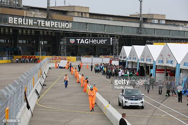 At the race track of Formula E at Tempelhof field in Berlin