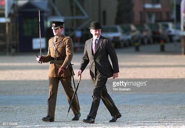 At The Rehearsal For The Arrival Ceremony For President Chirac Lieutenant Colonel Anthony Mather With Traditional Bowler Hat And Umbrella Stood In...