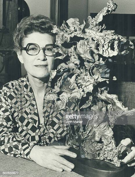 At the ripe old age of 64 Diana Wollman gave up her job in the fashion business and studied sculpture at Ontario College of Art Here she poses with...
