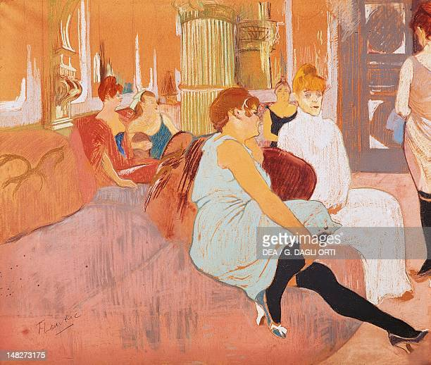 Mus e toulouse lautrec pictures and photos getty images - Toulouse lautrec au salon de la rue des moulins ...