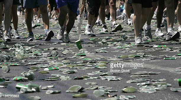 At the sixteen mile mark on Washington Street the road is a sea of discarded cups