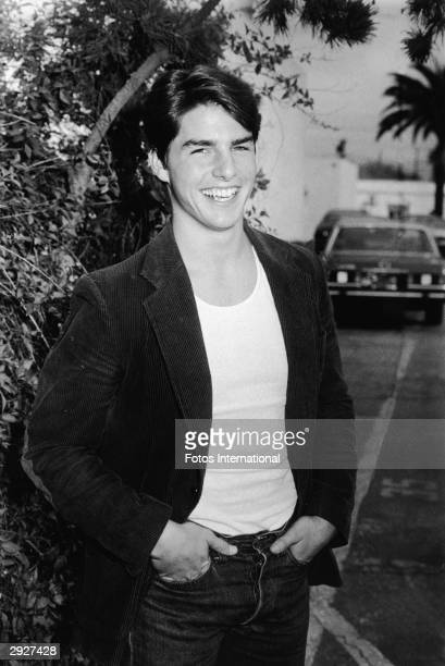 At the Su Ling Mandarin restaurant American actor Tom Cruise poses outside a party to celebrate the 100th episode of the TV show 'Entertainment...
