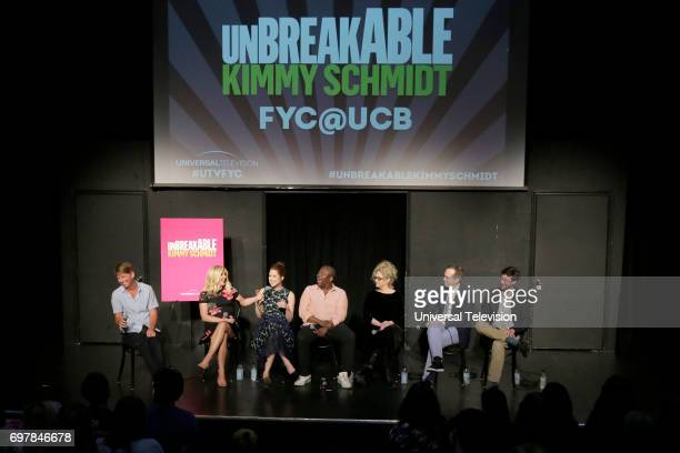 SCHMIDT 'FYC at UCB' Pictured Jack McBrayer Moderator Jane Krakowski Ellie Kemper Titus Burgess Carol Kane Robert Carlock Executive Producer Sam...