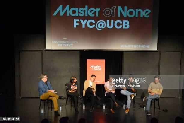 NONE 'FYC at UCB' Pictured Jim Halterman Moderator Aniz Ansari Writer Alan Yang CoCreator Aziz Ansari CoCreator Lena Waithe Kelvin Yu