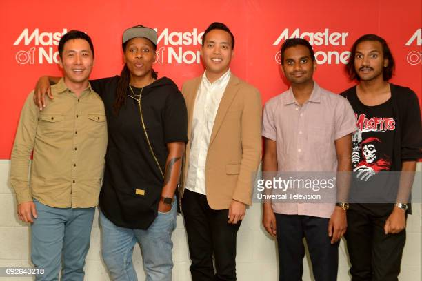 NONE 'FYC at UCB' Pictured Kelvin Yu 'Brian' Lena Waithe Writer / 'Denise' Alan Yang CoCreator Aziz Ansari CoCreator / 'Dev' Aniz Ansari Writer