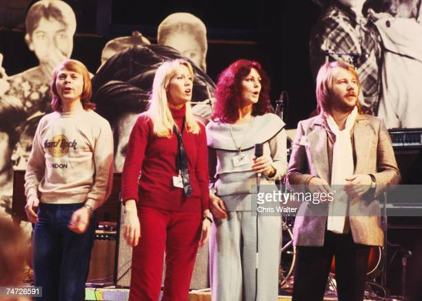 ABBA 1979 at UNICEF Concert at the UN at the Music File Photos 1970's in United Nations New York