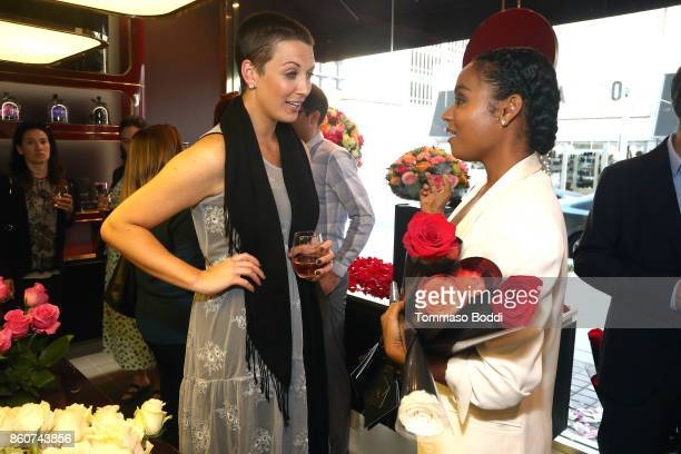 CEO at United Friends of the Children Kara Allen Soldati and Krishna Daly attend the Tracy Paul Company for Only Roses Launch Beverly Hills on...