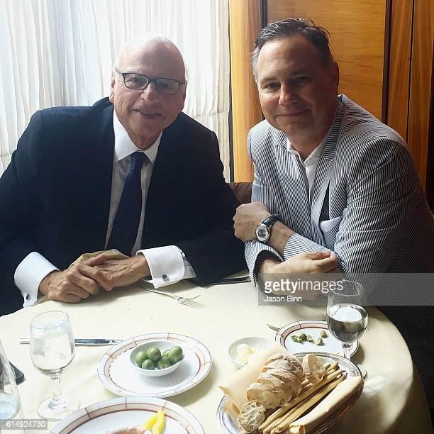 CEO at Vector Group LTD Howard Lorber and Jason Binn circa August 2016 in New York City