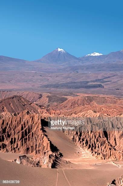 Atacama Moon Valley, sand dunes and volcanos