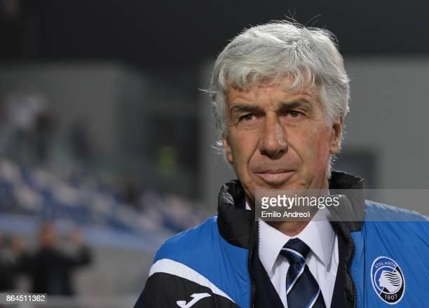 Atalanta BC coach Gian Piero Gasperini looks on before the UEFA Europa League group E match between Atalanta and Apollon Limassol at Mapei Stadium...