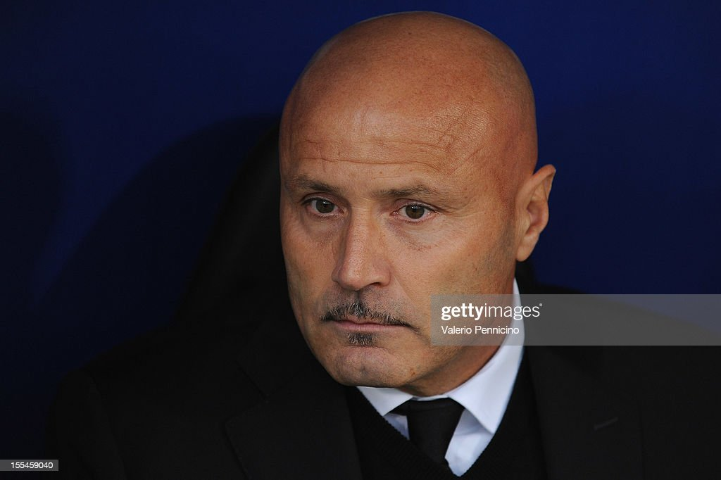 Atalanta BC head coach Stefano Colantuono looks on prior to the Serie A match between UC Sampdoria and Atalanta BC at Stadio Luigi Ferraris on November 4, 2012 in Genoa, Italy.