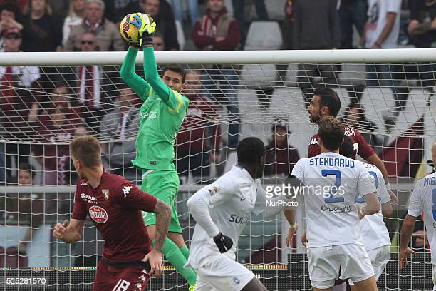 Atalanta goalkeeper Marco Sportiello in action during the Serie A football match n10 TORINO ATALANTA on 02/11/14 at the Stadio Olimpico in Turin...