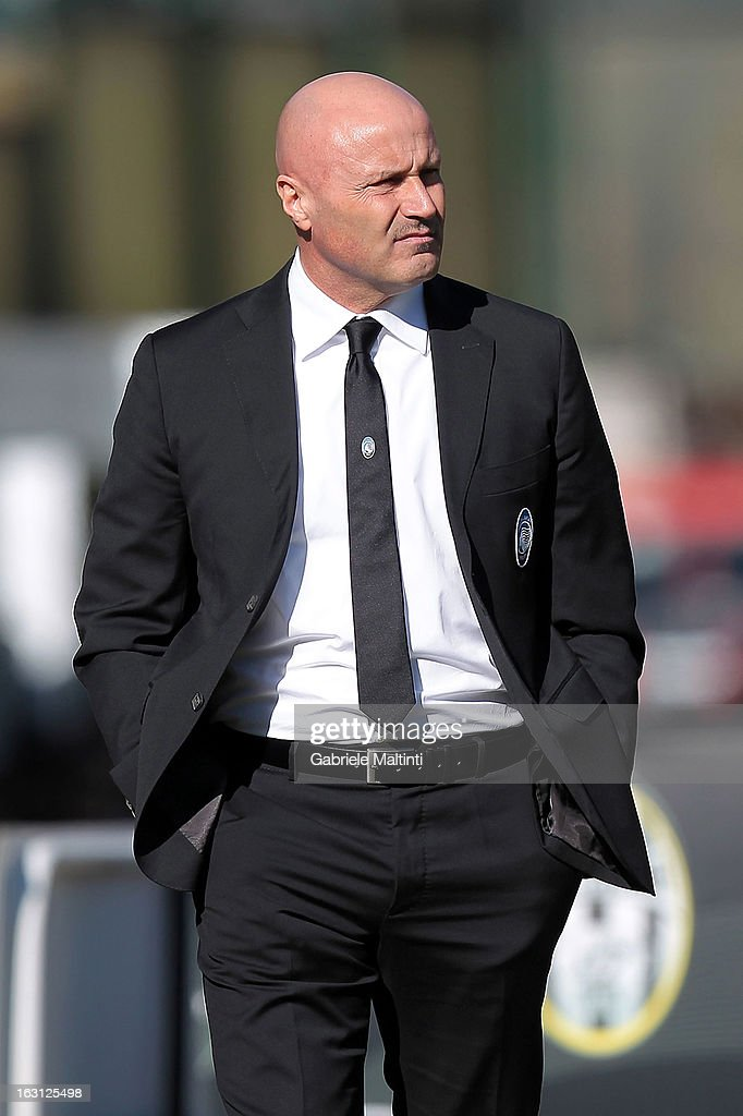 Atalanta head coach Stefano Colantuono looks during the Serie A match between AC Siena and Atalanta BC at Stadio Artemio Franchi on March 3, 2013 in Siena, Italy.