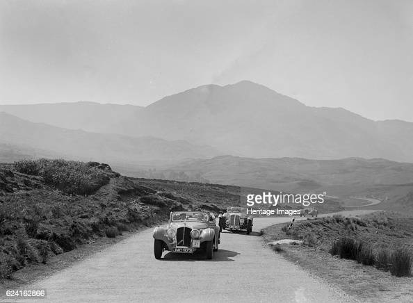 Atalanta of Joan Brotchie competing in the RSAC Scottish Rally 1939 Artist Bill BrunellAtalanta 14 hp dh coupe 1939 1996 ccReg No JMC973 No 31 Driver...
