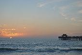 Atardecer en la playa de Naples (Florida, EEUU)