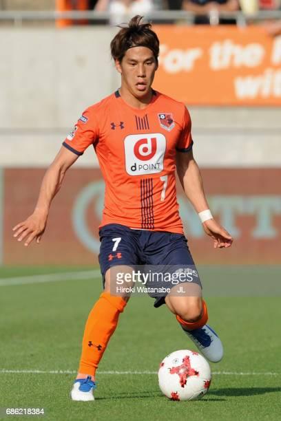 Ataru Esaka of Omiya Ardija in action during the JLeague J1 match between Omiya Arija and Cerezo Osaka at NACK 5 Stadim Omiya on May 20 2017 in...