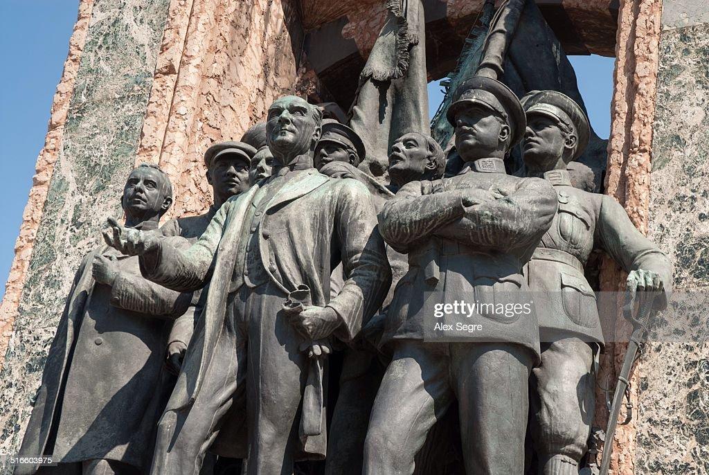 Ataturk on Republic Monument in Taksim Square Istanbul Turkey