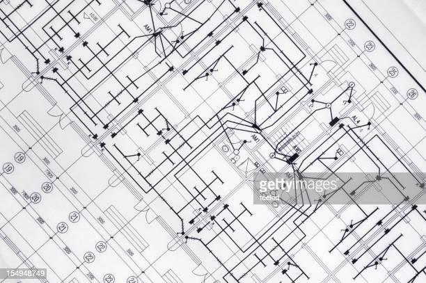 Atchitecture Blueprint-Immobilien und Bau-Industrie Dokument Papierkram