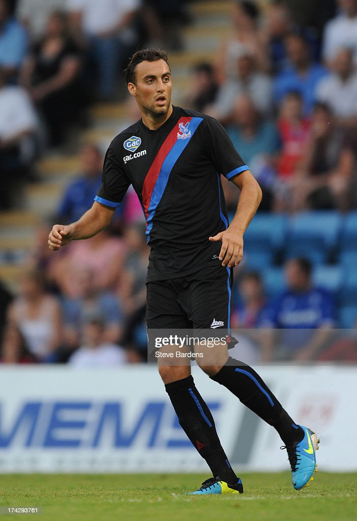 Atdie Nuhiu of Crystal Palace during the pre season friendly match between Gillingham and Crystal Palace at Priestfield Stadium on July 23, 2013 in Gillingham, Medway.