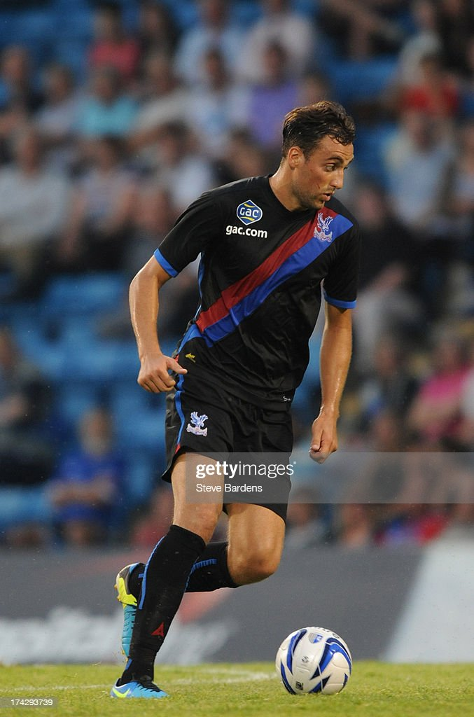Atdie Nuhiu of Crystal Palace in action during the pre season friendly match between Gillingham and Crystal Palace at Priestfield Stadium on July 23, 2013 in Gillingham, Medway.