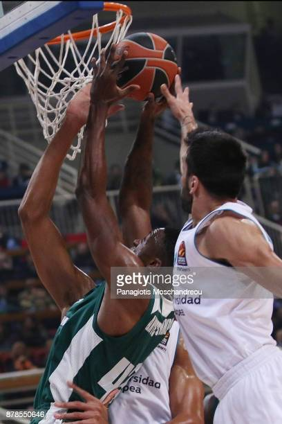 Athanasios Antetokounmpo #43 of Panathinaikos Superfoods Athens in action during the 2017/2018 Turkish Airlines EuroLeague Regular Season Round 9...