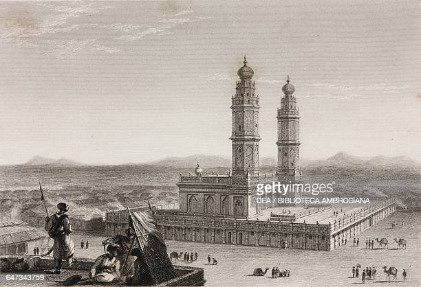 Athar Jamad Masjid the Big Mosque of Coimbatore engraving from the original drawing by William Daniell from The oriental annual or scenes in India...