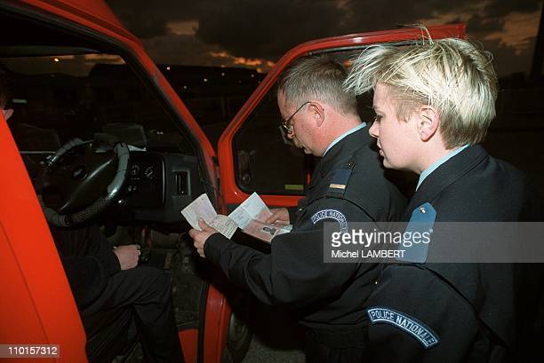 Atheism meeting gas de France in Stdenis France in June 2000 Vehicles are checked when boarding onto ferries