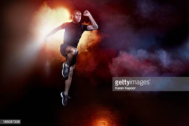 Athelete Leaping