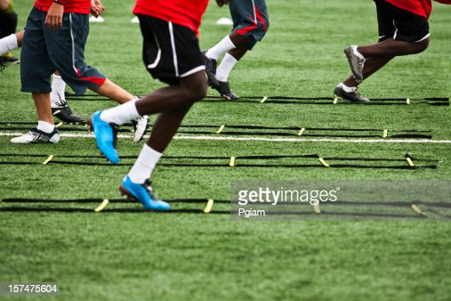 Athelete training for soccer