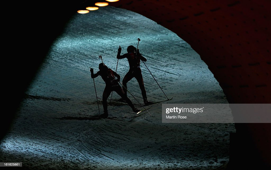 Athelets compete in the Women's 15km Individual during the IBU Biathlon World Championships at Vysocina Arena on February 13, 2013 in Nove Mesto na Morave, Czech Republic.