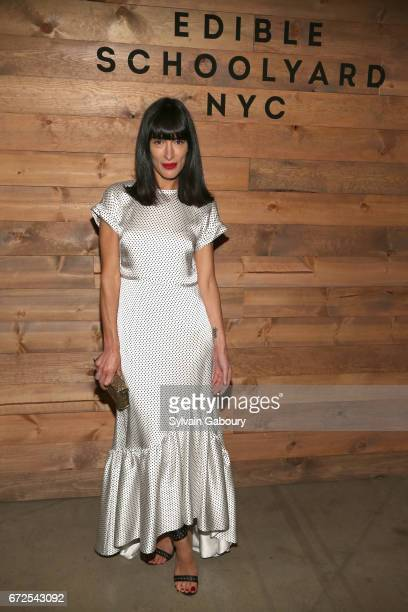 Athena Calderone attends Edible Schoolyard NYC 2017 Spring Benefit at Metropolitan West on April 24 2017 in New York City