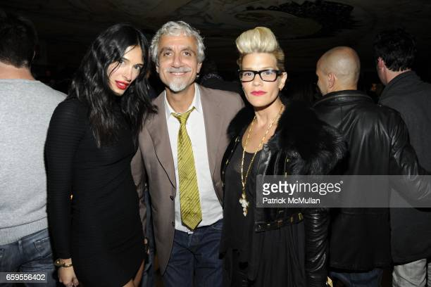 Athena Calderone Ric Pipino and Jenne Lombardo attend Moet Chandon hosts the Launch of Ben Watt's 'LICKSHOT' and the new Morgans Hotel Group CD at...