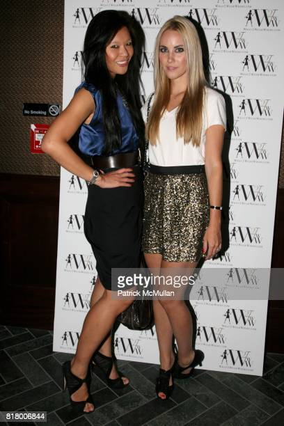 Athena Liu and Elizabeth Kurpis attend QUEST MAGAZINE What2WearWherecom hosts a soft launch of LAVO at 38 E 58th St on September 9 2010 in New York...