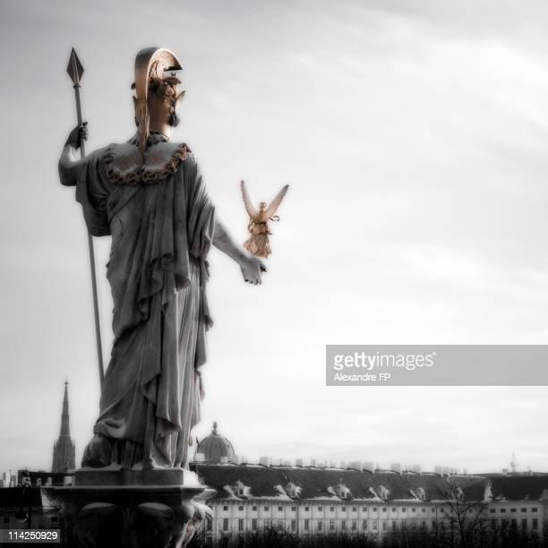 Athena Statue at Vienna Parliament