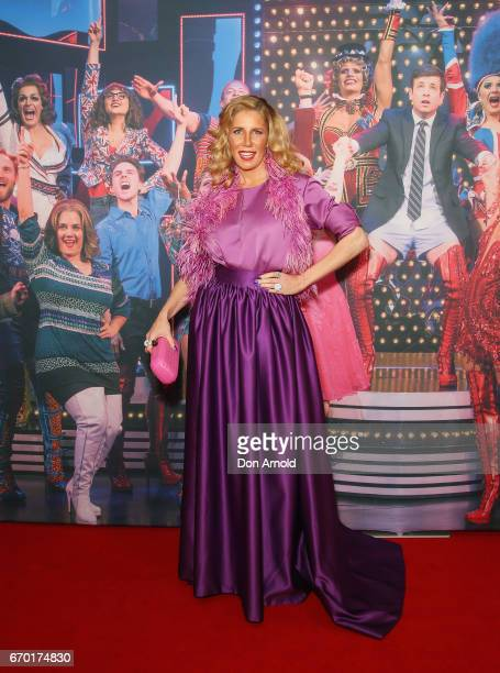 Athena X Levendi arrives for the opening night of Cyndi Lauper's Kinky Boots at Capitol Theatre on April 19 2017 in Sydney Australia