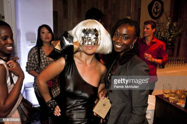Athena Zhe and Iman Sandmanie attend ONASSIS Flagship Soho Store Launch at 71 Greene Street on September 16 2010 in New York City