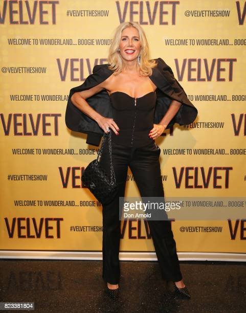 AthenaX Levendi arrives ahead of the VELVET opening night at Roslyn Packer Theatre on July 27 2017 in Sydney Australia