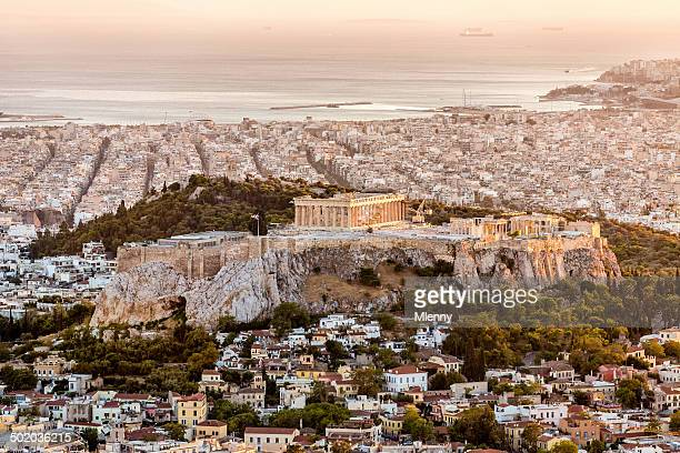 Athens Acropolis at Sunset Greece